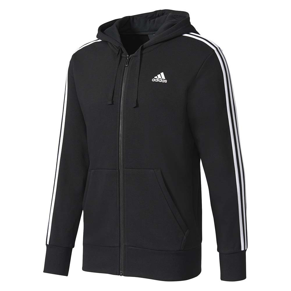Adidas Essentials 3 Stripes Full-Zip Hoodie